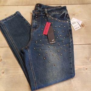 Studded Skinny Jeans